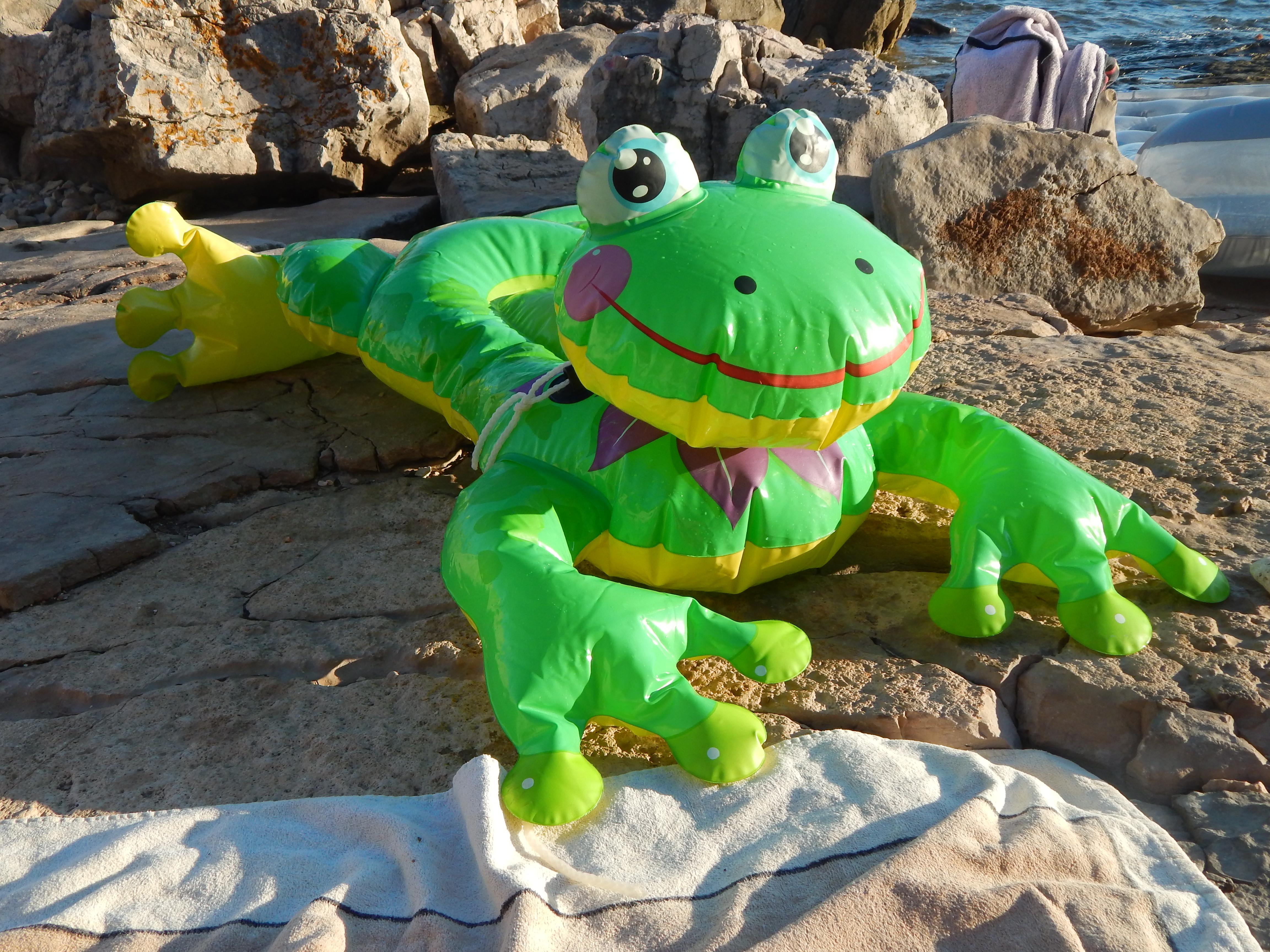 crète grenouille gonflable