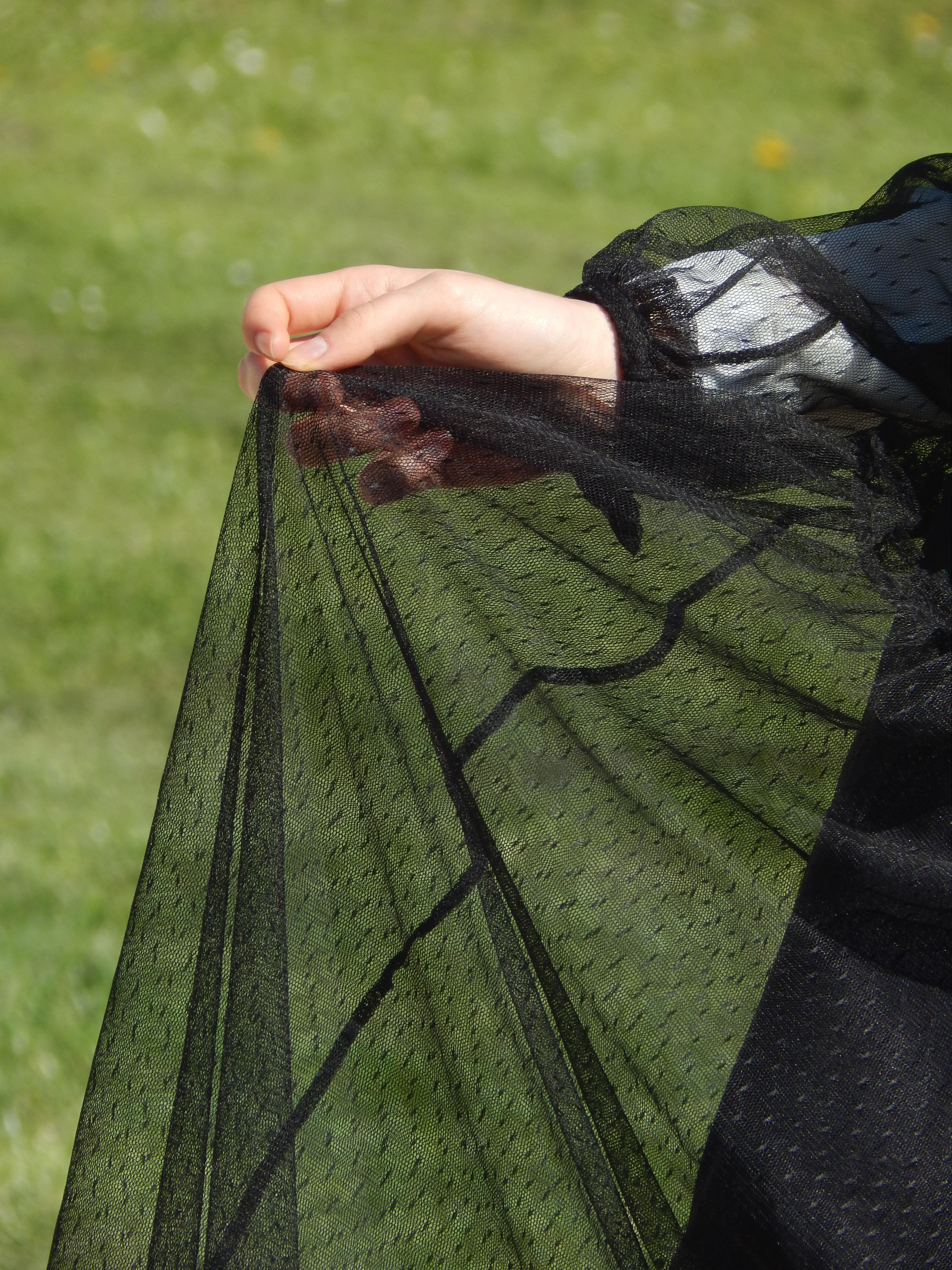 détail dentelle robe