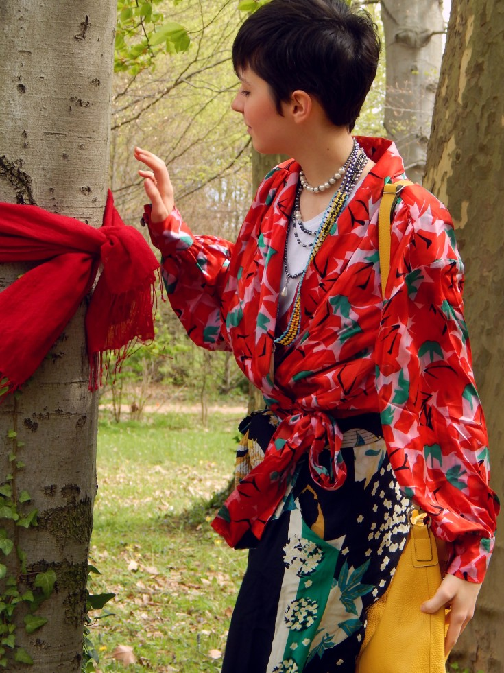 foulard rouge noué