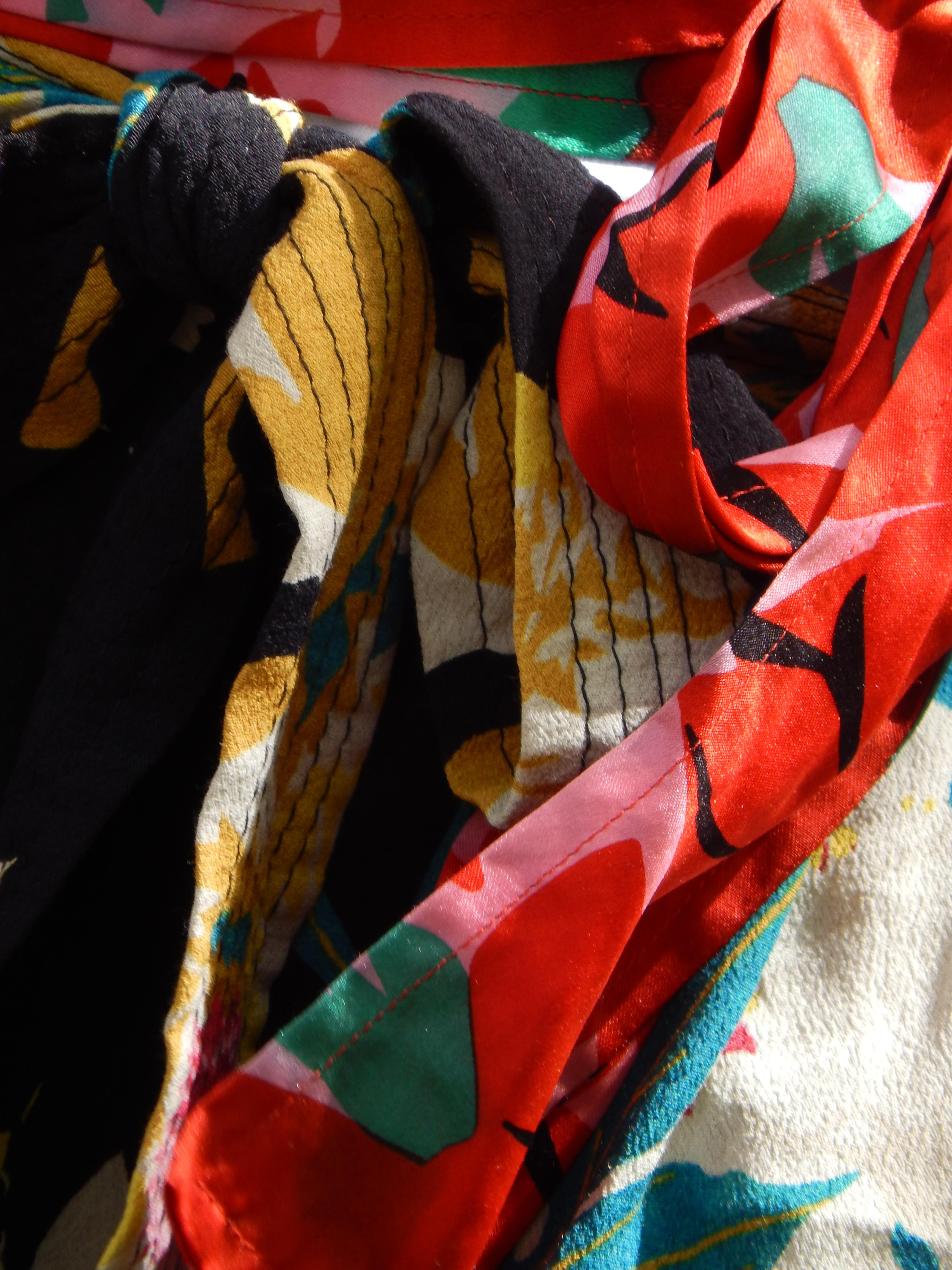 rubans de soie fleurie