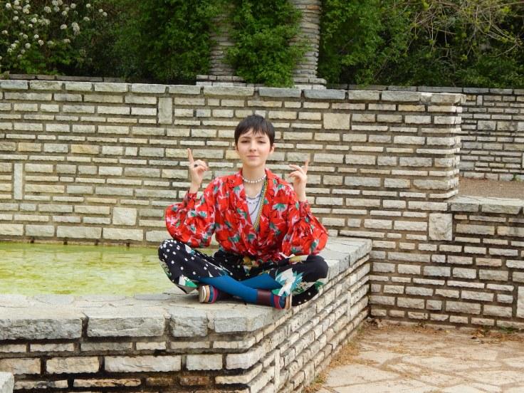 tenue japonaise assise zen