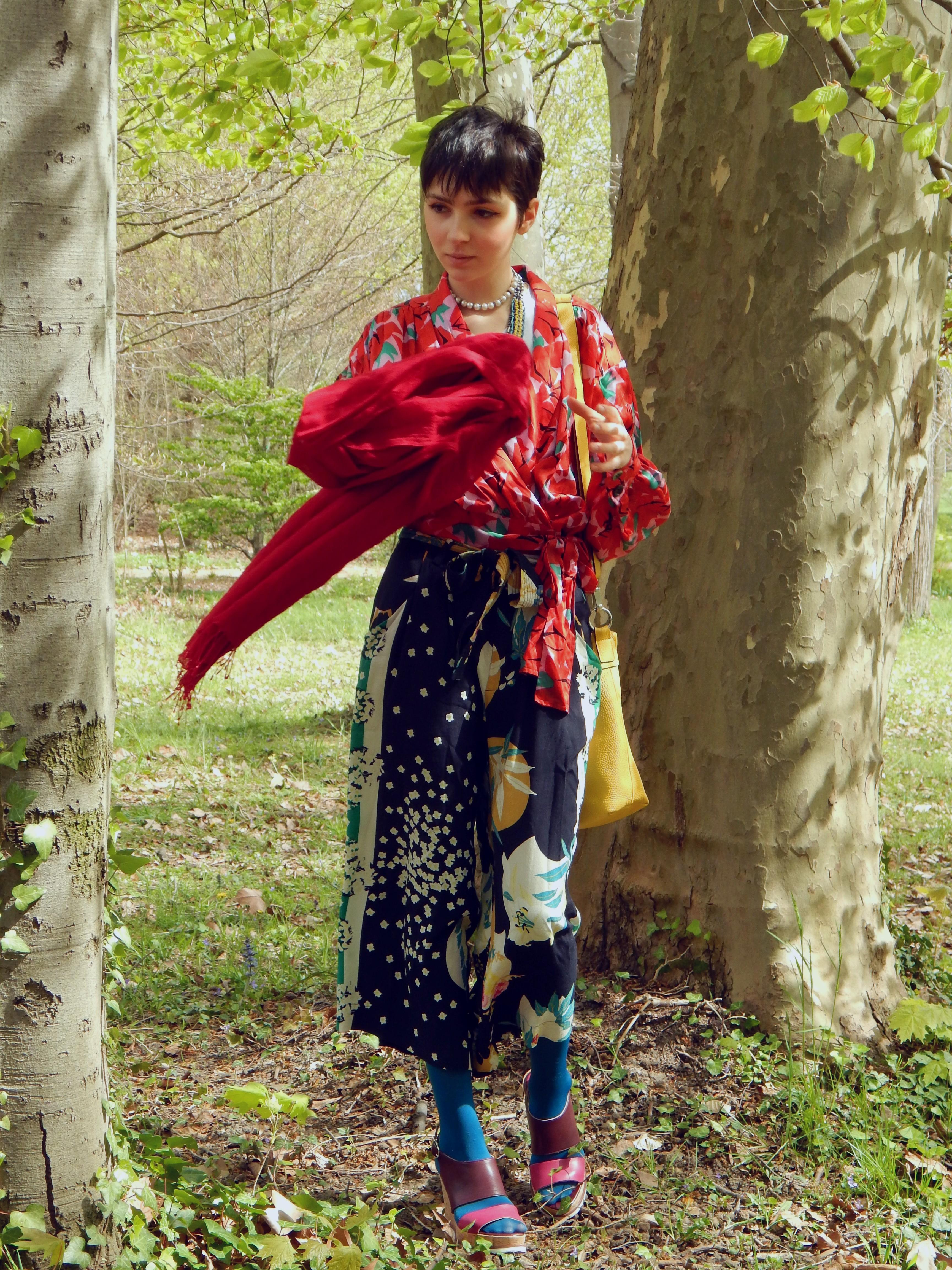 tenue japonaise foulard volant